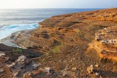 Miocene shallow-water limestones from Sao Nicolau island, Cape Verde Royalty Free Stock Photography