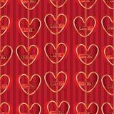Miłości Angielskiego pionowo zrozumienia bezszwowy wzór Fotografia Royalty Free