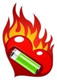 Miłości energetyczna wektorowa ilustracja Fotografia Royalty Free