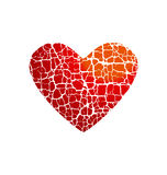 Miłości ikony pojęcie Abstrakcjonistyczny złamane serce symbol Zdjęcia Royalty Free
