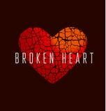 Miłości ikony pojęcie Abstrakcjonistyczny złamane serce symbol Zdjęcia Stock