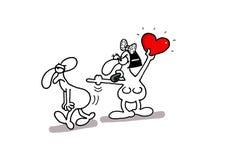 Miłości karta Zdjęcia Stock