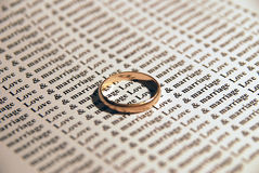 miłości małżeństwo Zdjęcia Stock
