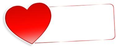 Miłości wiadomość Obrazy Royalty Free