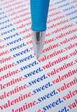 miłości wiadomości cukierki valentine Fotografia Royalty Free