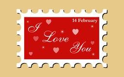 miłości znaczka wektor Fotografia Stock
