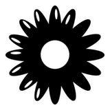 Miodowa kwiat ikona, prosty styl Obrazy Stock
