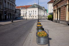 Miodowa Street in City of Warsaw Royalty Free Stock Image