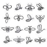 Miodowe pszczół ikony Zdjęcie Stock