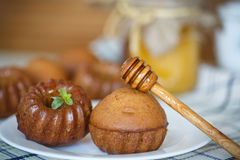 Miodowi muffins Fotografia Stock