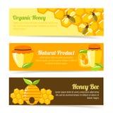 Miodowi pszczoła sztandary royalty ilustracja