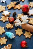 Miodowników bożych narodzeń gwiazdowi ciastka Zdjęcia Royalty Free
