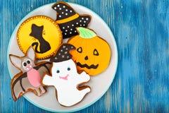 Miodownik dla Halloween Śmieszny Wakacyjny jedzenie dla dzieci zdjęcie royalty free