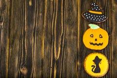 Miodownik dla Halloween Śmieszny Wakacyjny jedzenie dla dzieci Zdjęcie Stock