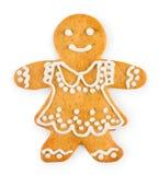 Miodownik w postaci dziewczyny - Bożenarodzeniowy domowej roboty słodki ciastko Obraz Royalty Free