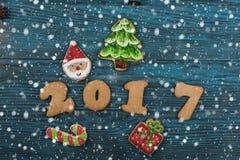 Miodowniki dla nowych 2017 rok Fotografia Stock