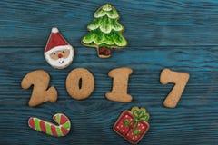 Miodowniki dla nowych 2017 rok Zdjęcie Royalty Free