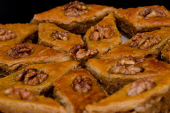 Miodowy Baklava, tradycyjni Tureccy cukierki Rombus obrazy royalty free