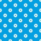 Miodowy kwiatu wzoru wektorowy bezszwowy błękit ilustracji