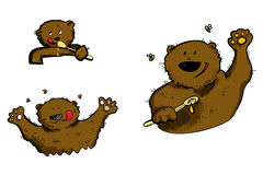 Miodowy niedźwiedź royalty ilustracja