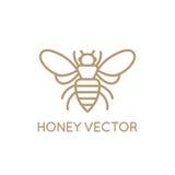 Miodowy pszczoły pojęcie ilustracji