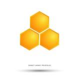 Miodowy pszczoła logo Zdjęcia Stock