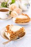 Miodowy tort Obraz Royalty Free