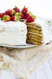 Miodowy tort zdjęcia stock