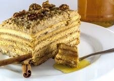 Miodowy tort obraz stock