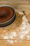 Miodowy tort domowej roboty Zdjęcie Royalty Free