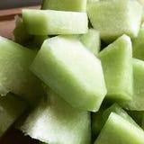 Miodunka melonu sześciany Fotografia Royalty Free