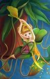 Miotacz rośliny dziewczyna Zdjęcia Royalty Free