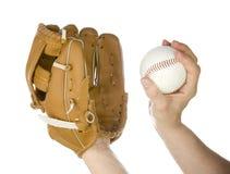 Miotanie baseball w rękawiczkę Obraz Royalty Free