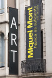 Miquel Mont, art exhibition. Barcelona, Spain. 2015 Royalty Free Stock Photography