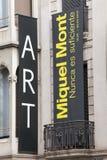 Miquel Mont, exposición de arte Barcelona, España 2015 Fotografía de archivo libre de regalías