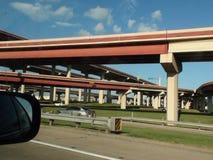 A miríade das estradas em Dallas Imagem de Stock Royalty Free