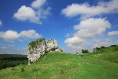 Mirów Castle in Poland and around. The Mirów Castle in Poland and its surroundings is attractive for tourists stock photo