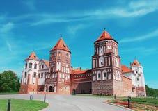 Mir城堡在白俄罗斯 库存照片