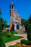 Mir城堡 正统的教堂 库存图片