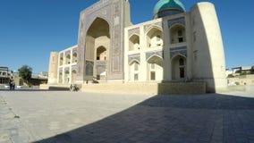 Mir我阿拉伯人Madrassah是Po我Kalan建筑复杂和布哈拉,乌兹别克斯坦著名的地标的部分  影视素材