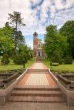 Mir,白俄罗斯- 2017年5月20日:Mir城堡在米斯克地区 Svyatopolk-Mirsky教堂埋葬穹顶  建筑日期:1904年 免版税库存图片
