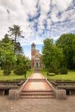 Mir,白俄罗斯- 2017年5月20日:Mir城堡在米斯克地区 Svyatopolk-Mirsky教堂埋葬穹顶  建筑日期:1904年 库存图片