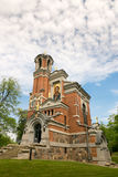 Mir,白俄罗斯- 2017年5月20日:Mir城堡在米斯克地区 Svyatopolk-Mirsky教堂埋葬穹顶  建筑日期:1904年 图库摄影