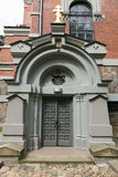 Mir,白俄罗斯- 2017年5月20日:Mir城堡在米斯克地区 Svyatopolk-Mirsky教堂埋葬穹顶  建筑日期:1904年 库存照片