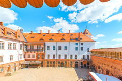 Mir beautiful castle, courtyard Royalty Free Stock Image