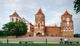 Medieval castle in Mir, Belarus Royalty Free Stock Photos