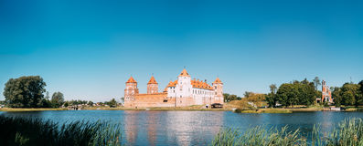 Mir Belarus. Panoramic View Of Mir Castle Complex Ancient Monumet Stock Photography