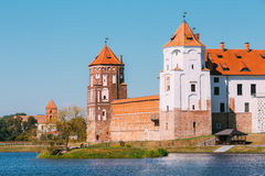 Mir, Belarus. View Of Mir Castle Complex, Ancient Monument, Unes Stock Image