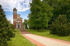 Mir BIAŁORUŚ, Maj, - 20, 2017: Mir kasztel w Minsk regionie Pogrzeb krypta Svyatopolk-Mirsky Data budowa: 1904 Fotografia Royalty Free