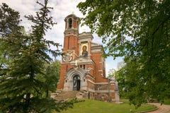 Mir BIAŁORUŚ, Maj, - 20, 2017: Mir kasztel w Minsk regionie Pogrzeb krypta Svyatopolk-Mirsky Data budowa: 1904 Fotografia Stock
